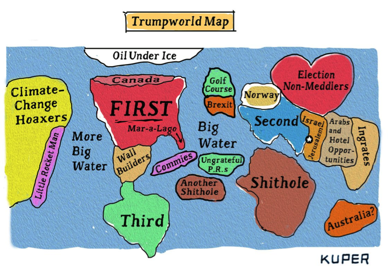 The Trump World Map Librexpression - Little big world map