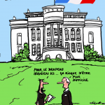 "© Patrick Pinter - ""Un nuovo inquilino per la casa Bianca?"" - ""Per la bandiera iraniana qua, forse sarà più difficile..."" - ""A new tenant for the White House? - For the Iranian Flag here, it maybe more difficult..."""